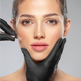 Botox on lips woman