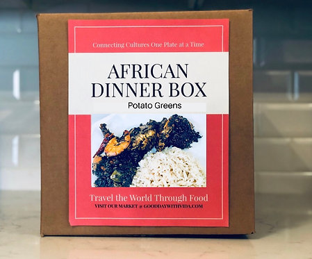 African Dinner Box with class. First time buyer? Go to CLASSES Page