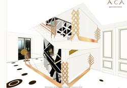 Hall entrer maison design classique Pari