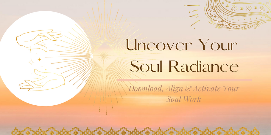 Sales page banner- Uncover Your Soul Rad