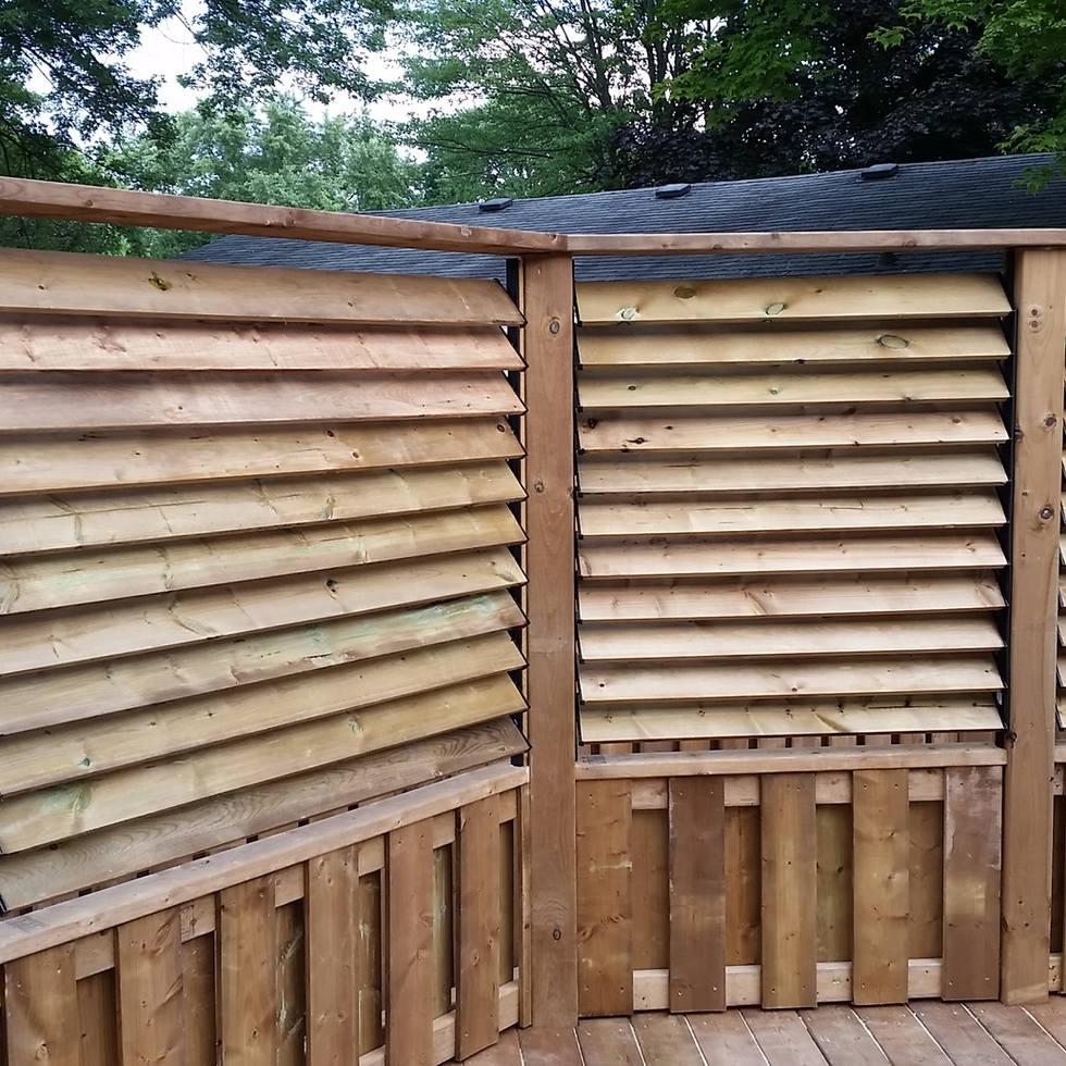 Wood Deck, Wood Privacy Screen