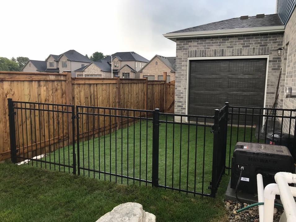 Wood Fence, Black Ornamental Fence