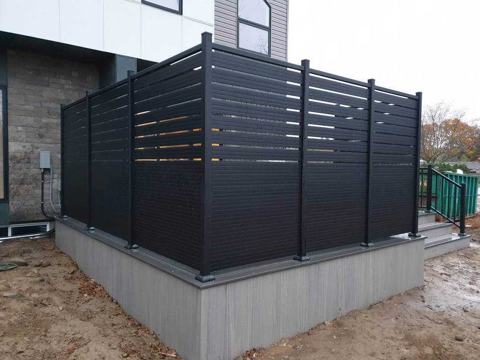 Black Aluminum Privacy Screen