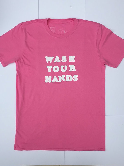 Wash Your Hands Tee Sugar Pink Large