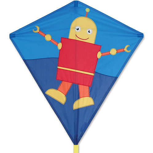 "30"" HAPPY ROBOT DIAMOND KITE"