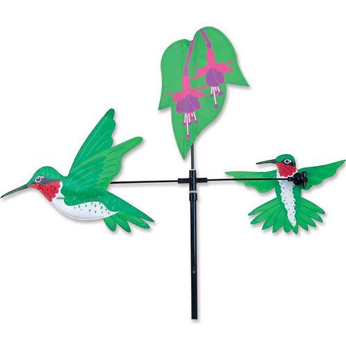 28in HUMMINGBIRDS SINGLE CAROUSEL SPINNER