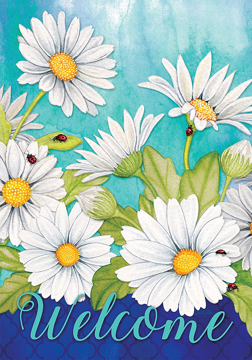 DELIGHTFUL DAISIES LARGE FLAG