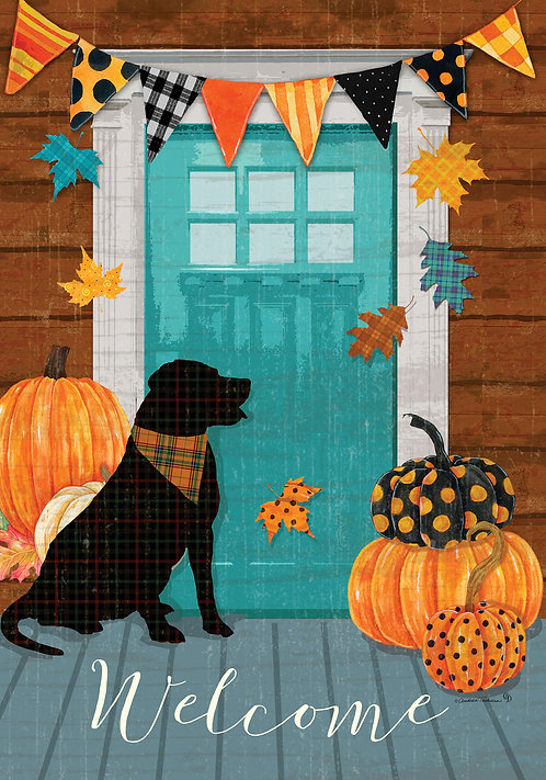 FALL PORCH DOUBLE SIDED FLAG