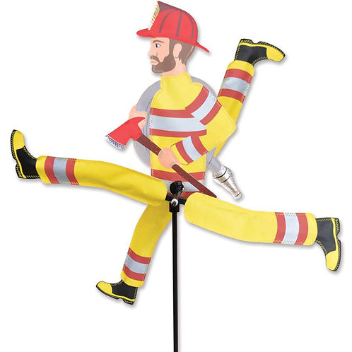 23in RUNNING FIREMAN WHIRLIGIG SPINNER