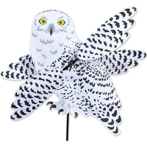 27in SNOWY OWL WHIRLIGIG SPINNER