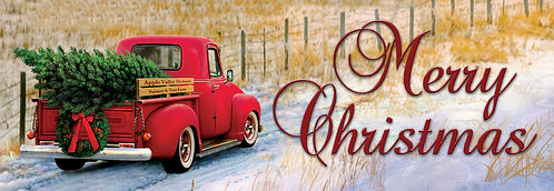 CHRISTMAS TRUCK SIGNATURE SIGN