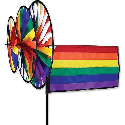 RAINBOW FLAG TRIPLE SPINNER