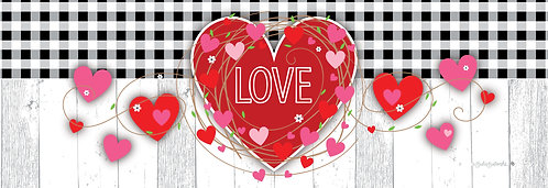 GINGHAM HEART SIGNATURE SIGN