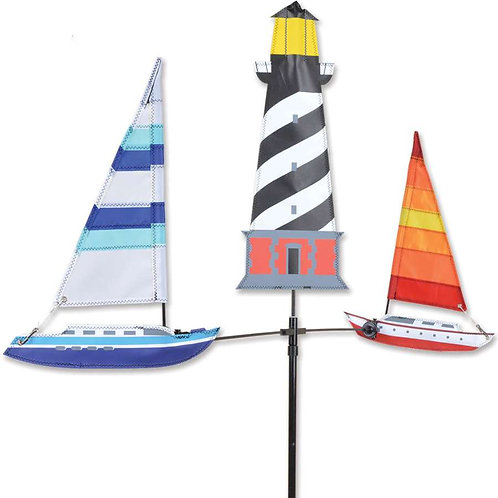 28in SAILBOAT SINGLE CAROUSEL SPINNER