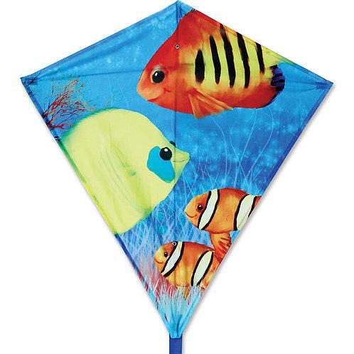 "30"" FISHY FISHES DIAMOND KITE"