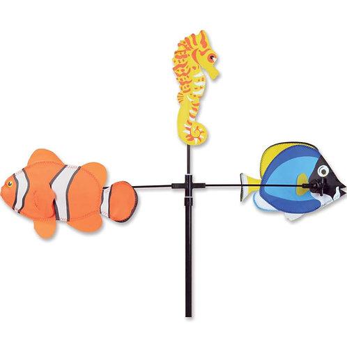28in FISH SINGLE CAROUSEL SPINNER