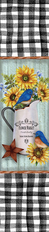 BLUEBIRDS & SUNFLOWERS YARD EXPRESSION