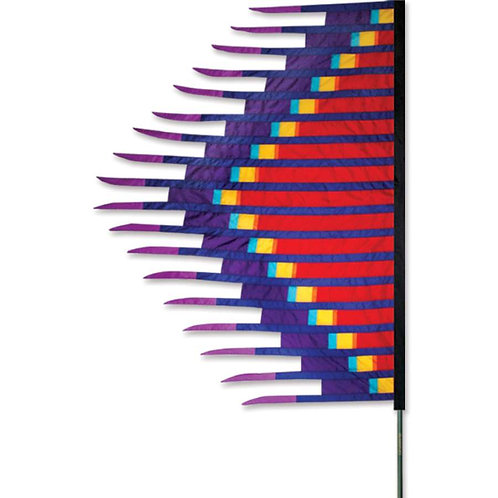 RED GRASS DANCE FEATHER BANNER by SOUNDWINDS