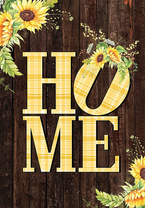 SUNFLOWER HOME LARGE DOUBLE SIDED FLAG