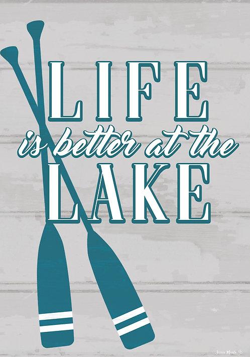 LIFE AT THE LAKE LARGE FLAG