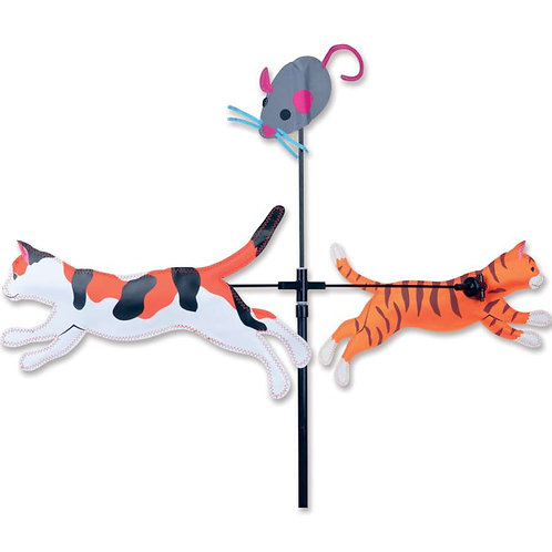 28in CAT & MOUSE SINGLE CAROUSEL SPINNER