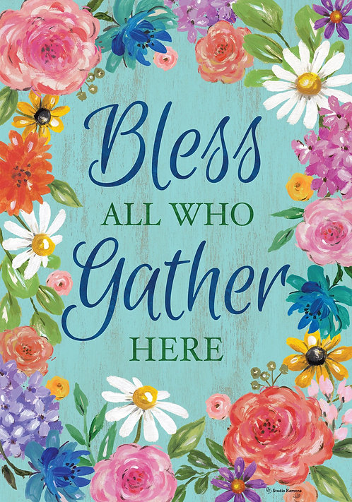 BLESS & GATHER LARGE DOUBLE SIDED FLAG
