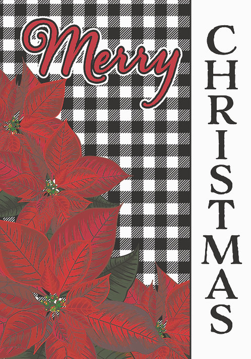 GINGHAM CHRISTMAS LARGE HOLIDAY FLAG