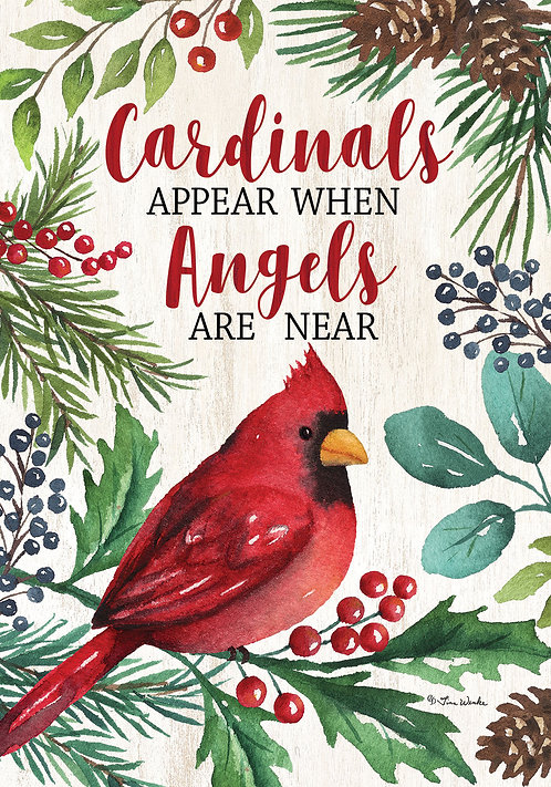 CARDINALS & ANGLES LARGE DOUBLE SIDED FLAG