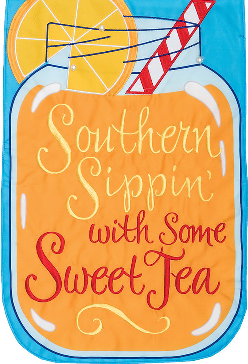 SOUTHERN SIPPIN APPLIQUÉ FLAG