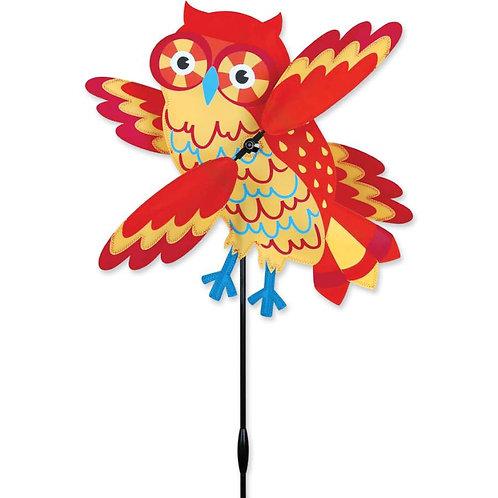 17in ORANGE OWL WHIRLIGIG SPINNER