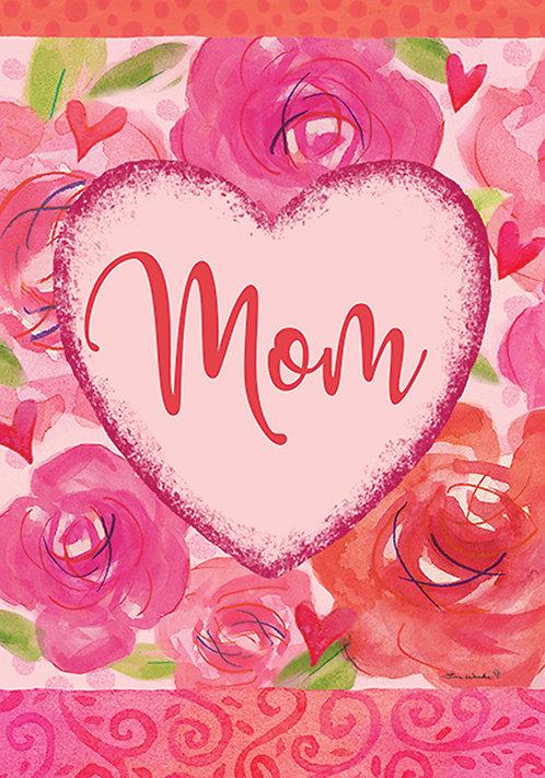 MOM HEART FLAG
