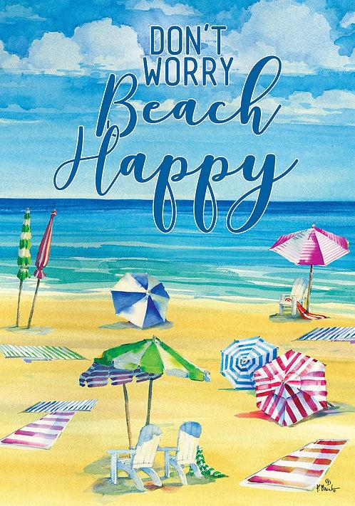 BEACH HAPPY FLAG