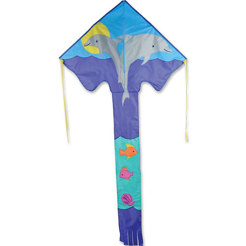 DOLPHINS LARGE EASY FLYER KITE