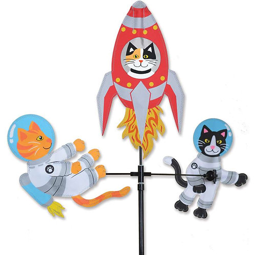28in SPACE CATS SINGLE CAROUSEL SPINNER