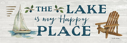 LAKE HAPPY PLACE SIGNATURE SIGN