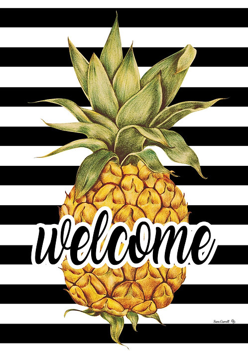 WELCOME PINEAPPLE LARGE FLAG