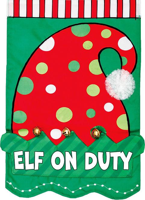 ELF ON DUTY APPLIQUÉ FLAG