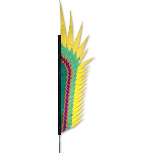 YELLOW ELECTRA FEATHER BANNER by SOUNDWINDS