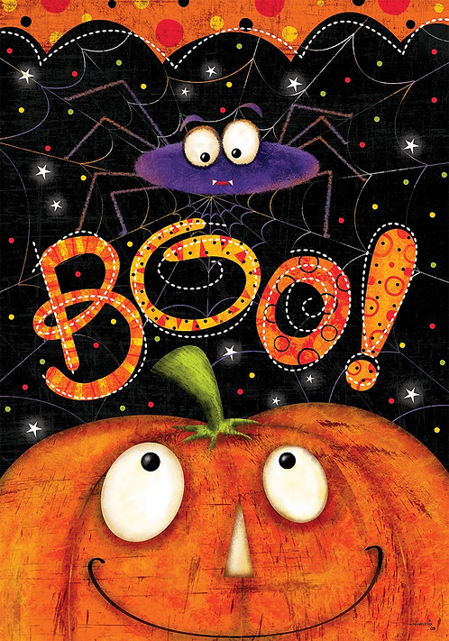 BOO SPIDER DOUBLE SIDED FLAG