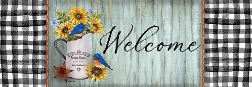 BLUEBIRD & SUNFLOWERS SIGNATURE SIGN