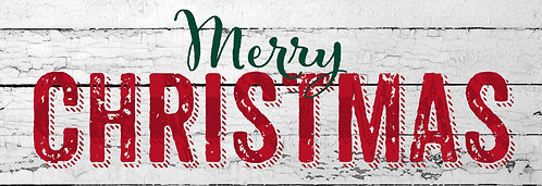 MERRY CHRISTMAS SIGNATURE SIGN