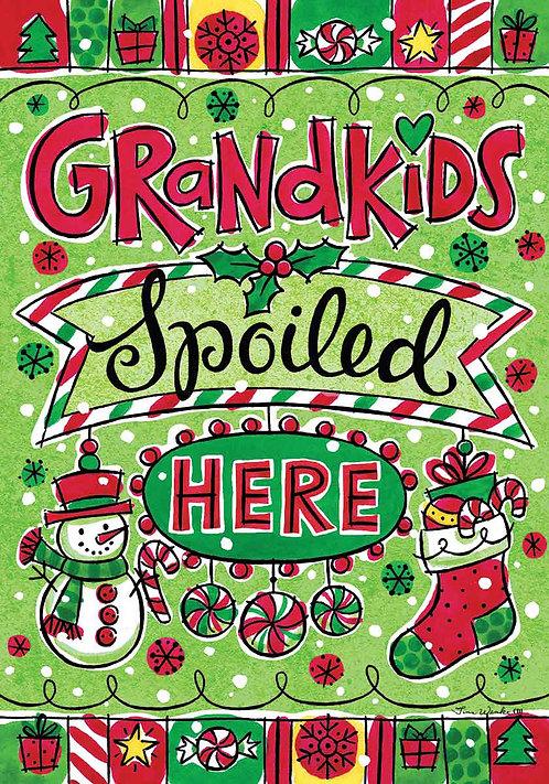 GRANDKIDS CHRISTMAS FLAG