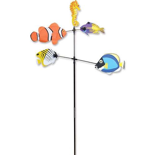 28in SALT WATER FISH DOUBLE CAROUSEL SPINNER