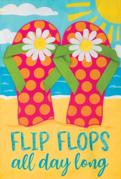 BEACH FLIP FLOPS APPLIQUÉ FLAG
