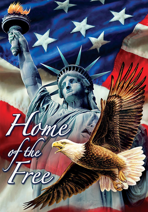 HOME OF THE FREE FLAG