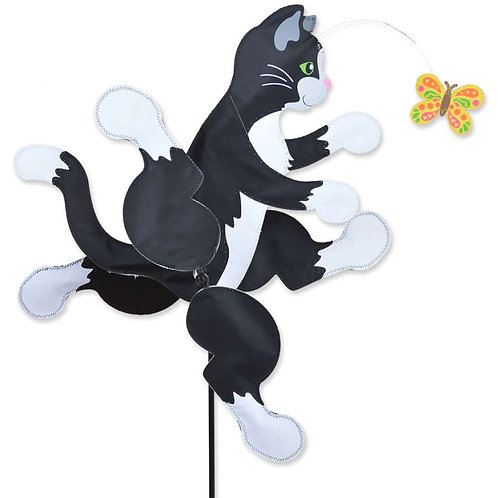 22in RUNNING CAT WHIRLIGIG SPINNER