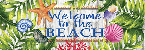 BEACH WELCOME SIGNATURE SIGN