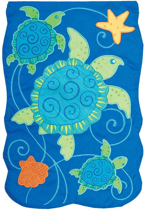 SEA TURTLES APPLIQUÉ FLAG