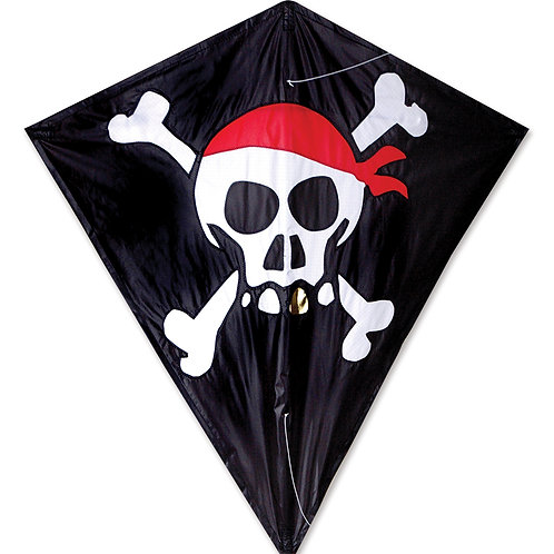 "30"" SKULL & CROSSBONES DIAMOND KITE"