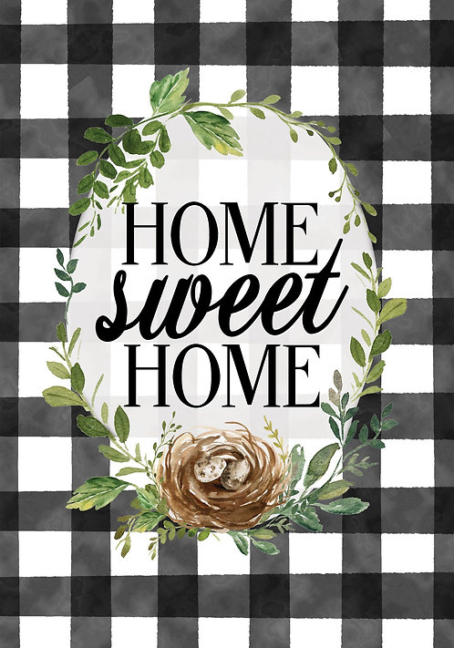 GINGHAM HOME LARGE DOUBLE SIDED FLAG